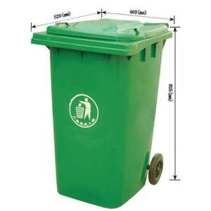 100L塑料垃圾桶,环保垃圾桶